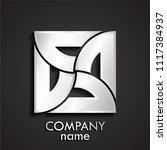 3d silver ornametal square logo | Shutterstock .eps vector #1117384937