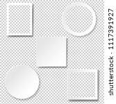 frame set isolated transparent... | Shutterstock .eps vector #1117391927