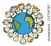 children around the world save...   Shutterstock .eps vector #111739787