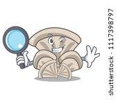detective oyster mushroom... | Shutterstock .eps vector #1117398797