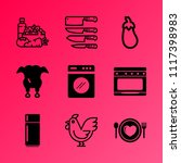 vector icon set about kitchen... | Shutterstock .eps vector #1117398983