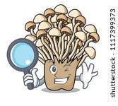 detective enoki mushroom... | Shutterstock .eps vector #1117399373