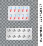 pills strips with capsules... | Shutterstock .eps vector #1117425677