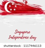 singapore independence day... | Shutterstock .eps vector #1117446113