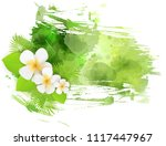 abstract tropical grunge... | Shutterstock .eps vector #1117447967