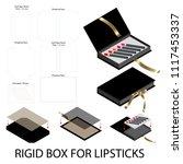 rigid box book shape for... | Shutterstock .eps vector #1117453337