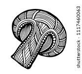 hand drawn magic mushroom for... | Shutterstock .eps vector #1117460063
