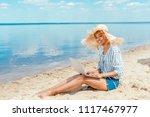 smiling african american female ...   Shutterstock . vector #1117467977