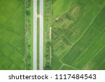 aerial view from flying drone.... | Shutterstock . vector #1117484543