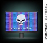 account hacked text on black...   Shutterstock .eps vector #1117486517