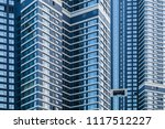 abstract modern building ... | Shutterstock . vector #1117512227