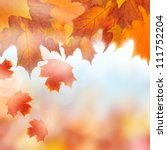 Autumn leaves, background - stock photo