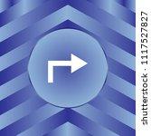 white arrow icon on blue... | Shutterstock .eps vector #1117527827
