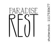 paradise rest. isolated vector  ... | Shutterstock .eps vector #1117530677