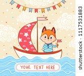 a fox sails on a festive... | Shutterstock .eps vector #1117531883