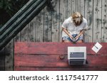 from above photo of young...   Shutterstock . vector #1117541777