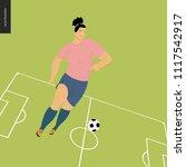 womens european football ... | Shutterstock .eps vector #1117542917