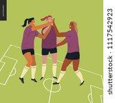 womens european football ... | Shutterstock .eps vector #1117542923