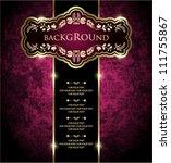 vintage ornate card design for...   Shutterstock .eps vector #111755867