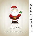 santa claus over brown... | Shutterstock .eps vector #111755963