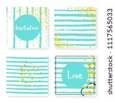 wedding confetti with stripes....   Shutterstock .eps vector #1117565033