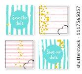 wedding invitation set with...   Shutterstock .eps vector #1117565057