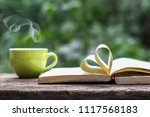 coffee espresso on wood table... | Shutterstock . vector #1117568183