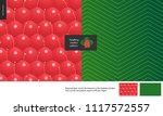 food patterns  summer   fruit ... | Shutterstock .eps vector #1117572557