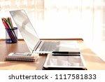 businessman working with...   Shutterstock . vector #1117581833