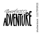 vacation adventure. isolated... | Shutterstock .eps vector #1117593923