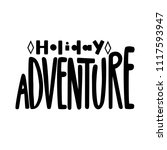 holiday adventure. isolated... | Shutterstock .eps vector #1117593947
