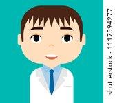 medical staff. professional... | Shutterstock .eps vector #1117594277