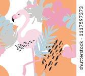 minimal summer trendy vector... | Shutterstock .eps vector #1117597373