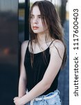 close up outdoor portrait of a... | Shutterstock . vector #1117600403