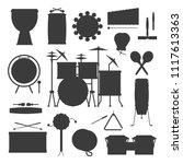 musical drum silhouette wood...   Shutterstock .eps vector #1117613363