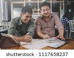 businessteam discussing ideas... | Shutterstock . vector #1117658237