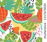 minimal summer trendy vector... | Shutterstock .eps vector #1117673033