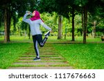 islamic woman healthy lifestyle | Shutterstock . vector #1117676663