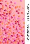 beautiful  pink hearts falling ...   Shutterstock .eps vector #1117692047