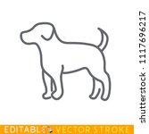 puppy dog icon. editable stroke ...   Shutterstock .eps vector #1117696217