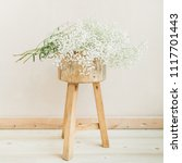 white gypsophila flower bouquet ... | Shutterstock . vector #1117701443