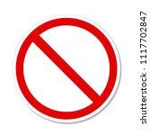 prohibition no symbol red round ... | Shutterstock .eps vector #1117702847