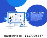 business characters. teamwork ...   Shutterstock .eps vector #1117706657