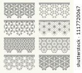 set of black seamless borders ...   Shutterstock .eps vector #1117720067