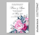 wedding invitation vector...   Shutterstock .eps vector #1117725467