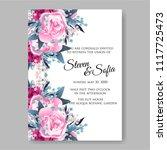 wedding invitation vector...   Shutterstock .eps vector #1117725473