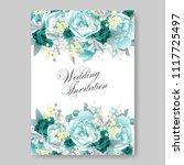 wedding invitation vector...   Shutterstock .eps vector #1117725497