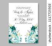 wedding invitation vector...   Shutterstock .eps vector #1117725503