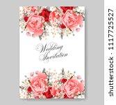 wedding invitation vector...   Shutterstock .eps vector #1117725527