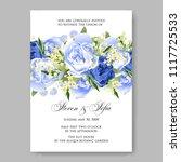 wedding invitation vector...   Shutterstock .eps vector #1117725533